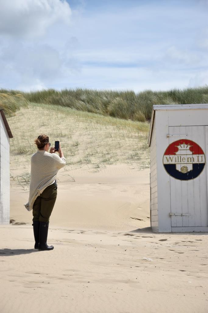 Strandhütten fotografieren am Strand von Domburg in Zeeland