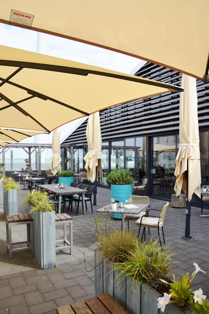 Seafarm Kamperland Zeeland - die Restaurant Terrasse