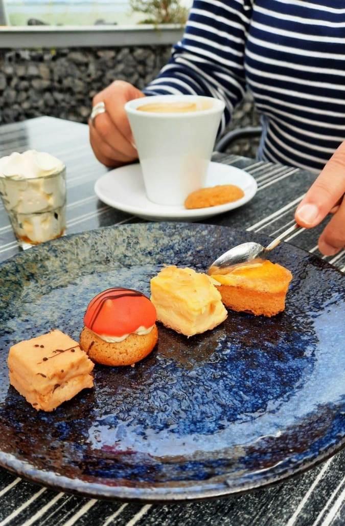 Dessert Teller im Restaurant Seafarm Kamperland Zeeland